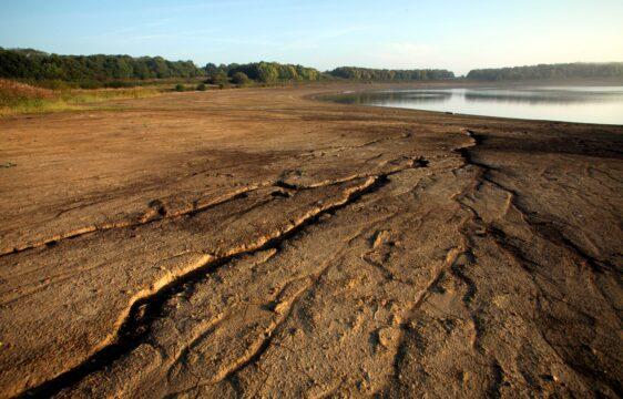 Arlington Reservoir during prolonged dry weather